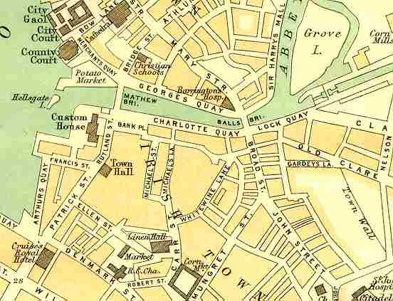 Street map of Limerick 1912