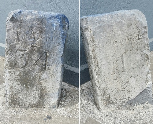 Mile Stone at on the Dock Road