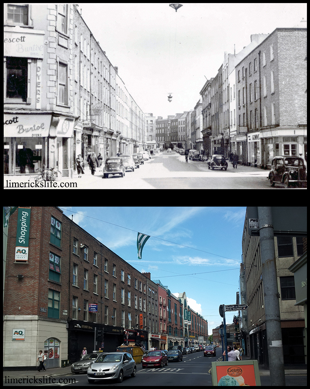 10 Then and Now Photos of Limerick
