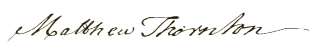 Matthew Thornton signature