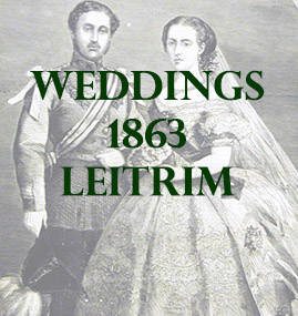 Weddings from County Leitrim in 1863 posted in the Limerick Chronicle