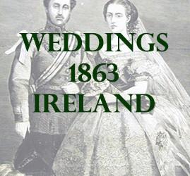 1863 Weddings Announcements in Ireland