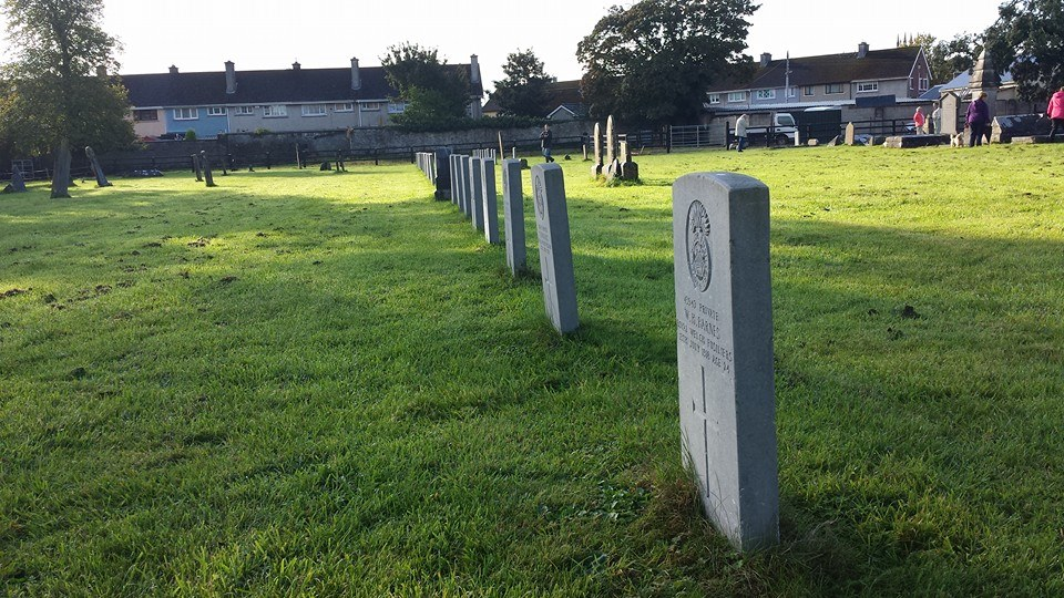 CWGC Graves in Military Cemetery, King's Island