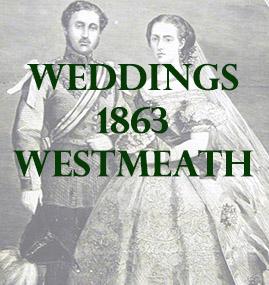 Westmeath Weddings 1863