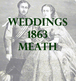 Meath Weddings 1863