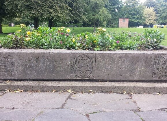 1648 Lintel as Flowerbed in People's Park