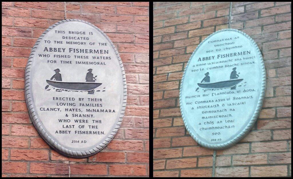 Abbey Fishermen Plaque on the Abbey Bridge