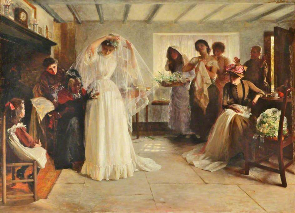 The Wedding Morning - John Henry Frederick Bacon, 1892. Lady Lever Art Gallery