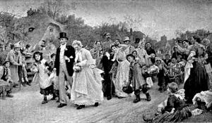 The Village Wedding by Sir Samuel Luke Fildes 1883
