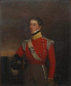 Portrait of Major Thomas Pakenham Vandeleur, 3rd son of Colonel John Ormsby Vandeleur, of the 5th Dragoon Guards