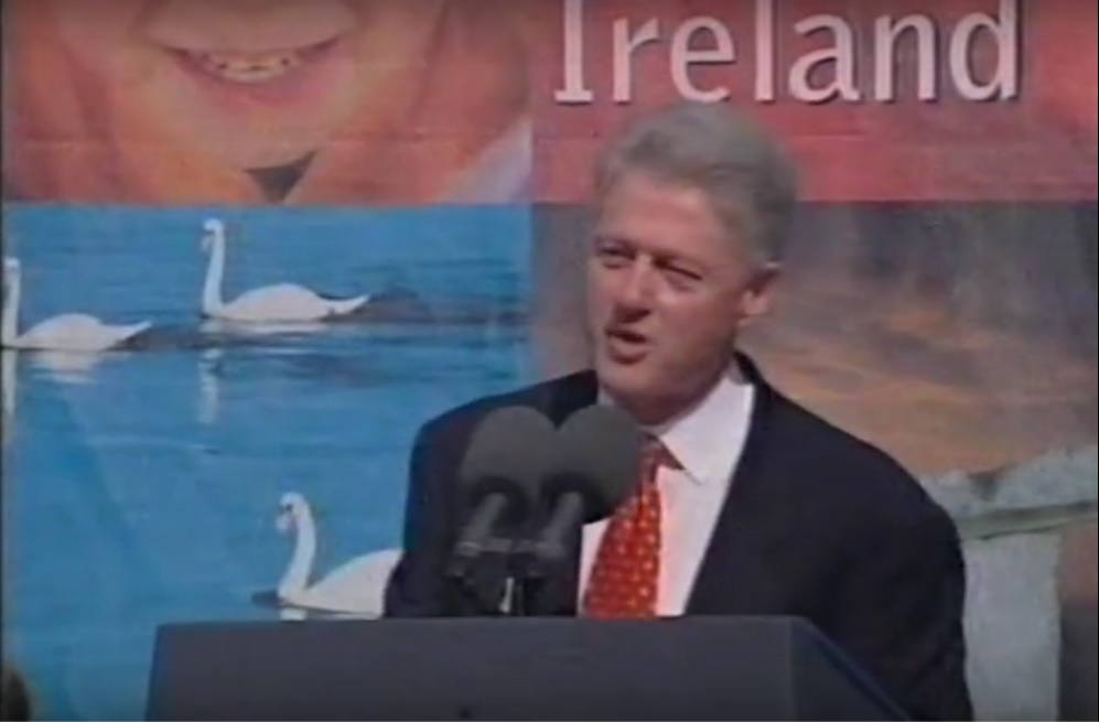 President Bill Clinton in Limerick in 1998