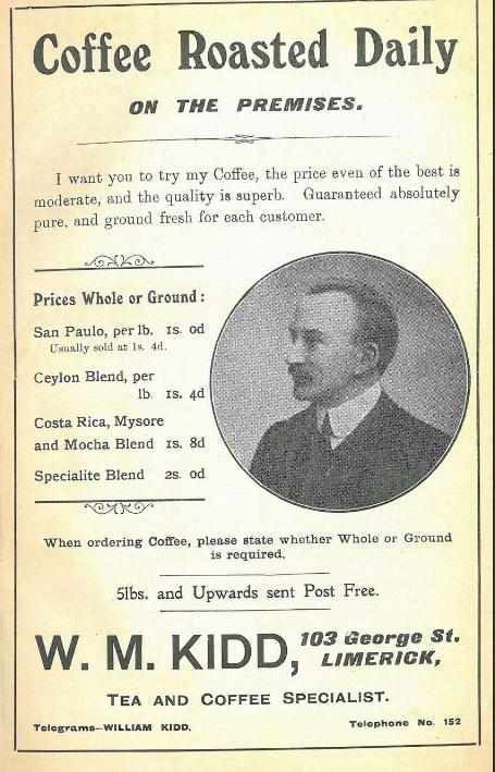 William Mount Kidd advert 1912