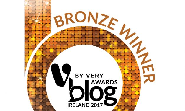 Bronze Award Winner at the V by Very Blog Awards Ireland 2017