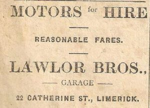motor cars advert 1920s
