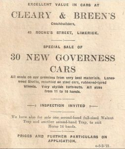 cars advert 1920s