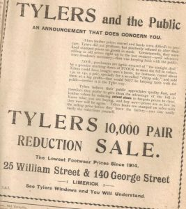 tylers shoes advert 1920s