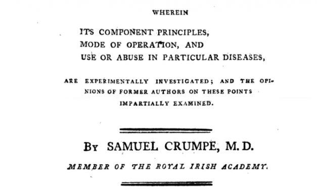 Dr Samuel Crumpe – A Man of Many Talents